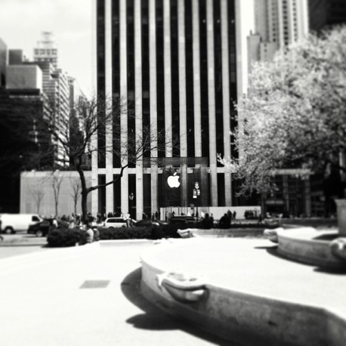 Most photographed building in New York City: Fifth Avenue Apple Store.