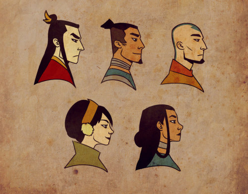 wheretheavatarboysat:  Team Avatar Mini by andrahilde