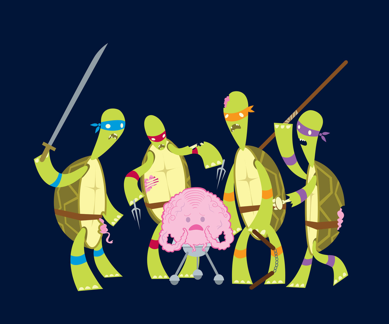 Teenage Zombie Ninja Turtles by Kathryn Hudson Artist: tumblr/website