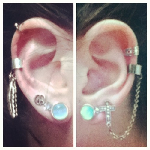 @amazingrace_uf, I wanted as much #earbling as you have. And after an hour in Claire's, I love my #earcuffs.