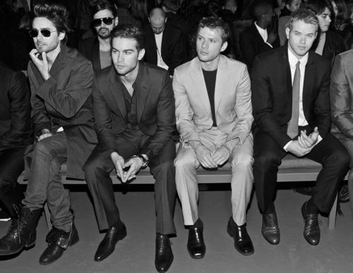 Front row at Calvin Klein NYFW 2010