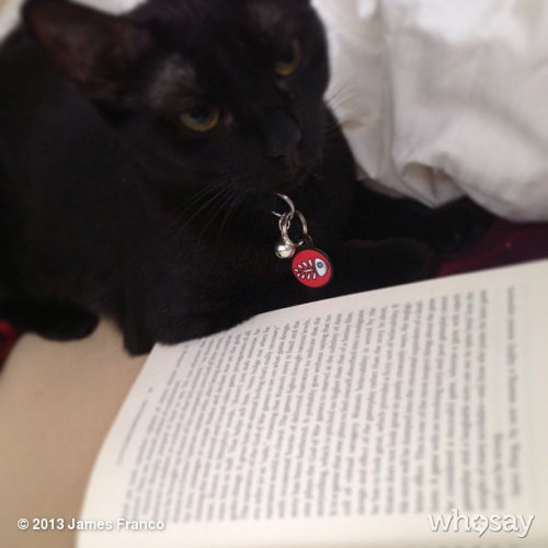 Lux reading with meView more James Franco on WhoSay