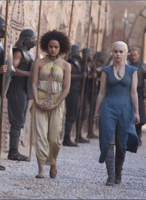 suicideblonde:  Missandei and Daenerys Targaryen - Game of Thrones Season 3