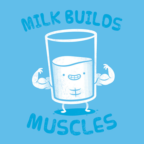 Milk Builds Muscles From doodle to final illustration.  Here's a little something I made for a kids/baby contest over at Threadless.com. Go check it out and give it a vote!