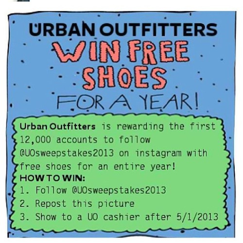 Oh I'm soo in!!   (Thanks Alaine :)). #freeshoeshereicome  #loveuo