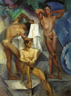 Georg Pauli:  Young Bathers (1914) via The Athenaeum