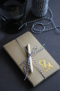 Check out the DIY Gilded Moleskin Journal by Design Mom!  (Image Credit: Design Mom)