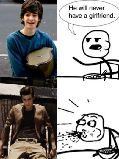 Cereal Guy -Spiderman will never have a girlfriend. Submitted by Kay
