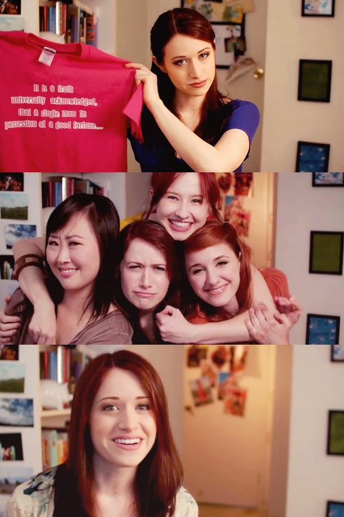 {12 favourite characters of 2012} Lizzie Bennet, The Lizzie Bennet Diaries   My name is Lizzie Bennet, and now, we group hug.