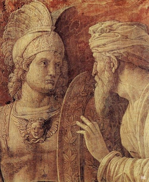 hadrian6:  Detail : The triumph of Scipio. 1500. Andrea Mantegna. Italian. 1431-1506. oil on panel. http://hadrian6.tumblr.com