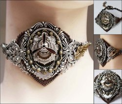 Massive steampunk propeller necklaceby ~Pinkabsinthe