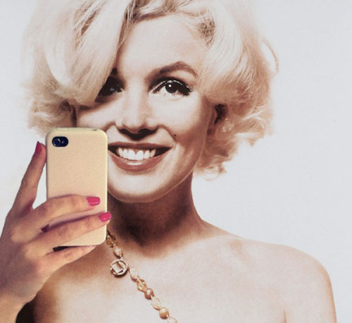 Marilyn Monroe Self Portrait with an iPhone