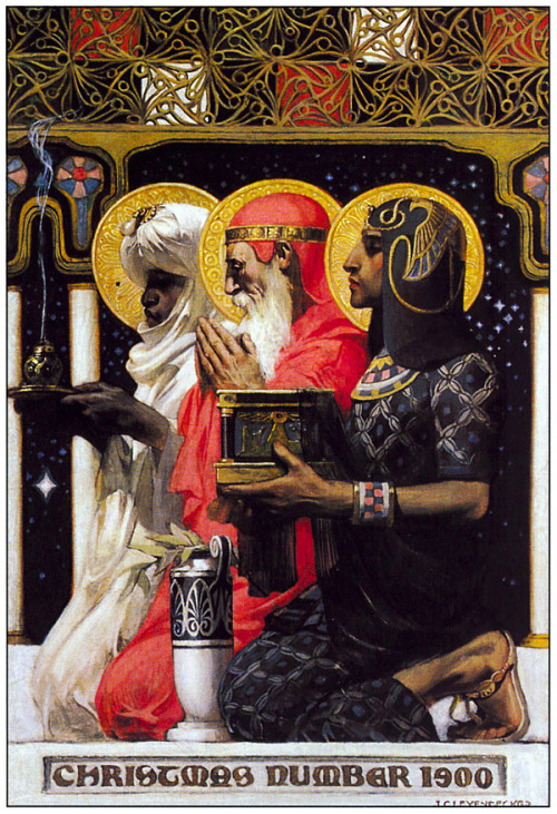 twelvehouses:  Astrologers. xixdegrees:   J. C. Leyendecker, The Magi