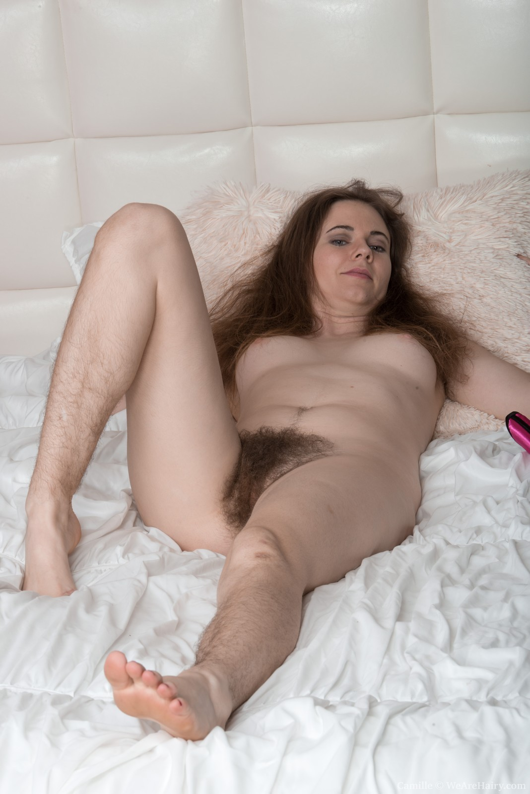 Nude women with hairy legs