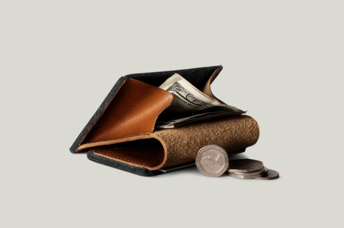Hard Graft Heritage Coin Fold Wallet