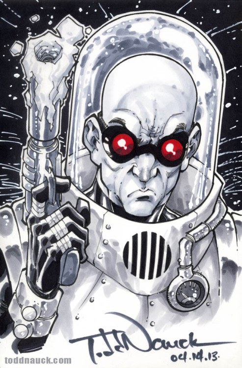 "Mr. Freeze. Sketch request from my Invincible Universe signing at Limited Edition Comics ""sketch retweet contest"" winner, @DarkNguyenDuck!Follow me on Twitter for the next ""Sketch Retweet Contest""… May 11 at the Long Beach Comic Con 1Day con!Copic sketch markers and Pigma Micron markers."