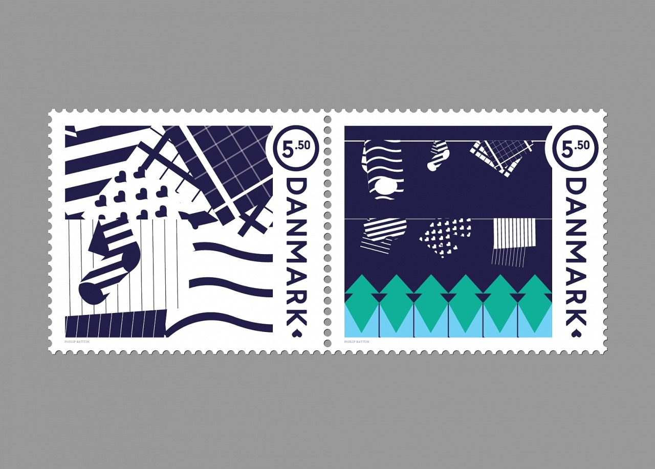 imnotagraphicdesigner:  Stamps for Post Danmark by Philip Battin