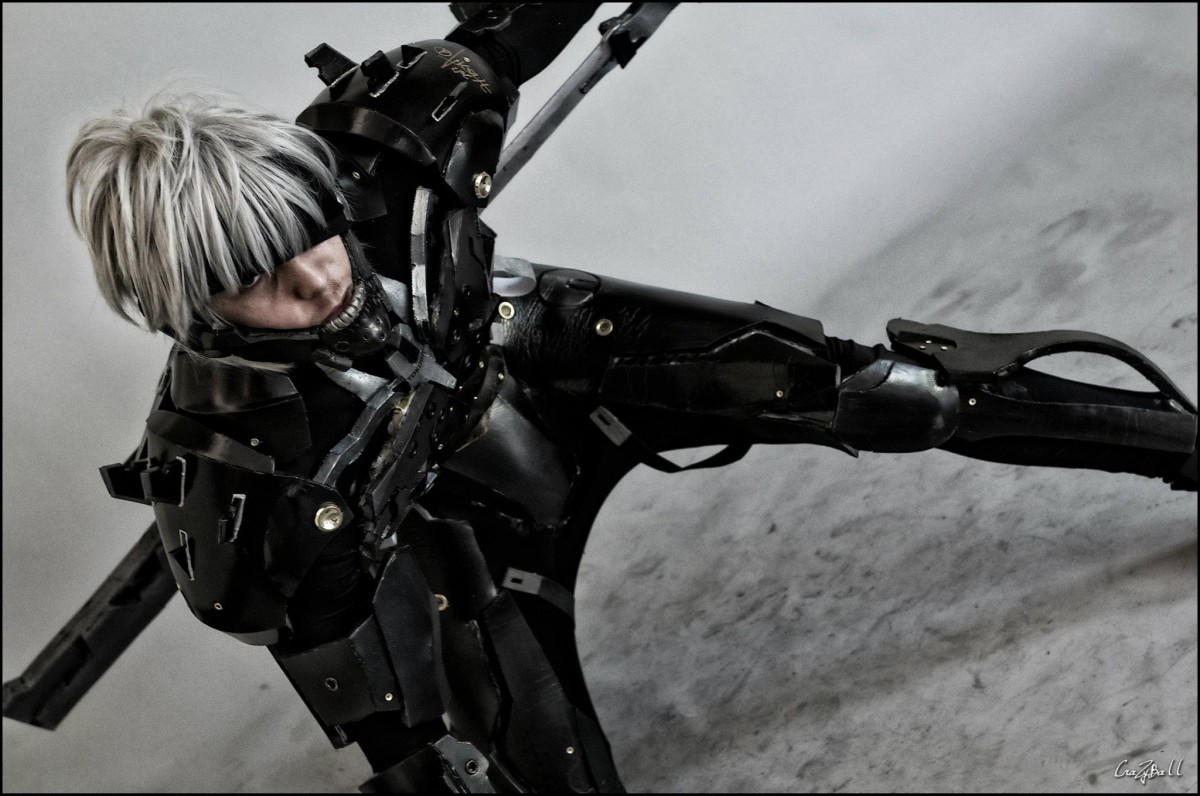 Cosplay of Jack Raiden from Metal Gear: Rising