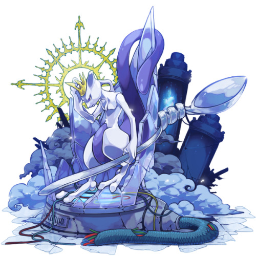 alternativepokemonart:  Artist Mewtwo by request.
