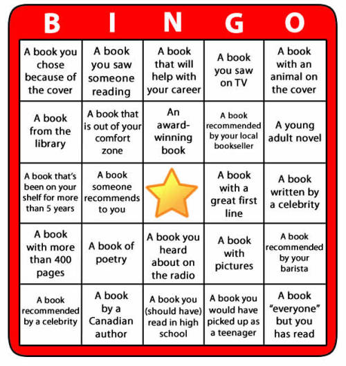 Reading Bingo Challenge Join us and challenge yourself to read more, to read more widely and to have fun doing it all!