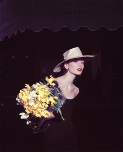 "yodeka:  Suzy Parker Daffodil, for ""ELLE"", Spring Collection, Paris 1953"
