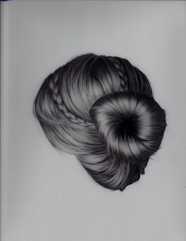 artmonia:  Hair Portraits by Brittany Schall