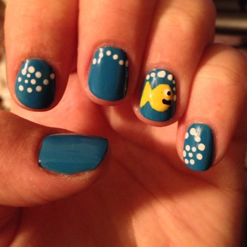 My fish nails. :)