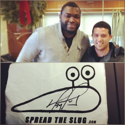David Ortiz knows the deal. #RedSox #Spreadtheslug