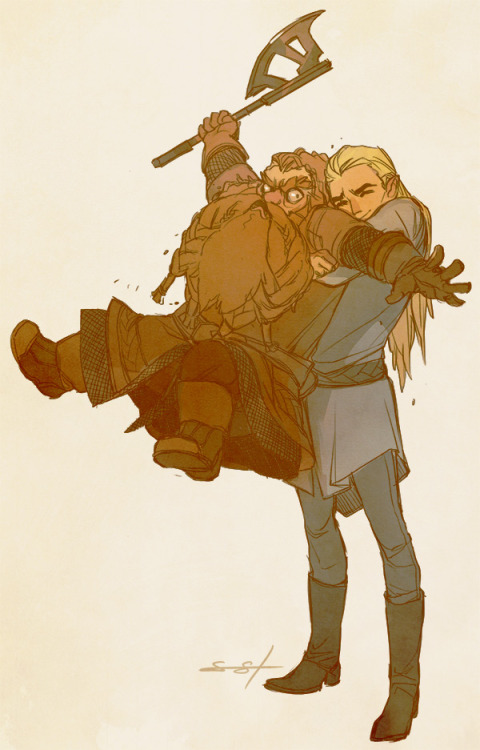 acquaintedwithrask:  fayren:  All these Hobbit feelings reminded me of my original OTP.   this might be the best thing I've ever seen