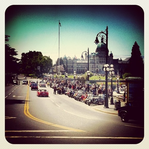 May long weekend #ramborun #scooterrally in #victoriabc on #vancouverisland  (at Inner Harbour On The Water)