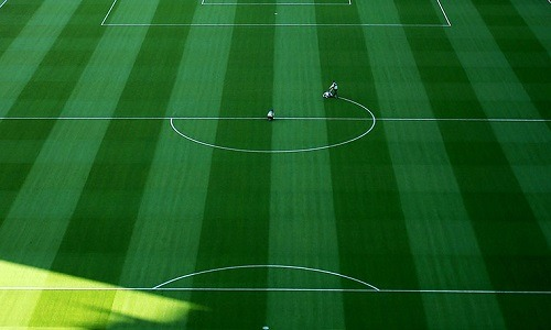 thebeautifulsoccer:  Line painting at Camp Nou.