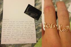 Taco Bell sent jewelry, love letters, and gift cards to models, who then promoted Taco Bell in their instagram/twitter feeds.