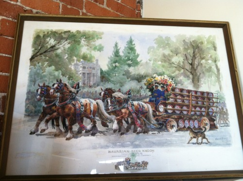 1961 Bavarian beer wagon painting by Harold Breul for Narragansett Beer.
