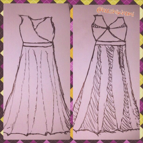 #rough #sketches #dresses #same #basics #AorB #egdey