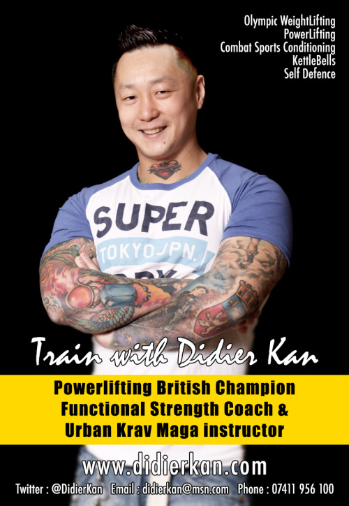Check out my personal trainer Didier Kan. Now Powerlifting British Champion 2013