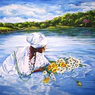 divinemoon:  Beautiful, offering to Oshun of the river! Ache and Maferefun Oshun!