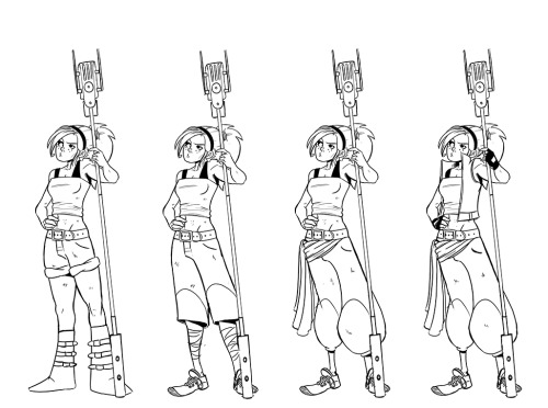 Final clothing designs for Elena!