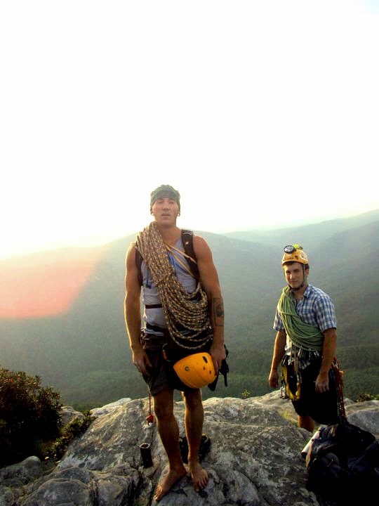 Me (Front) After 7 pitches at Table Rock, NC