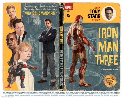 stephenreid:  Iron Man 3, the pulp paperback. Damn, Paolo Rivera is good.