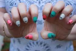 boomnails:  Pointy Claws  Love this tips idea from boom nails!