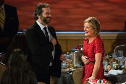 Amy Poehler and Judd Apatow at the Peabody Awards, May 20.