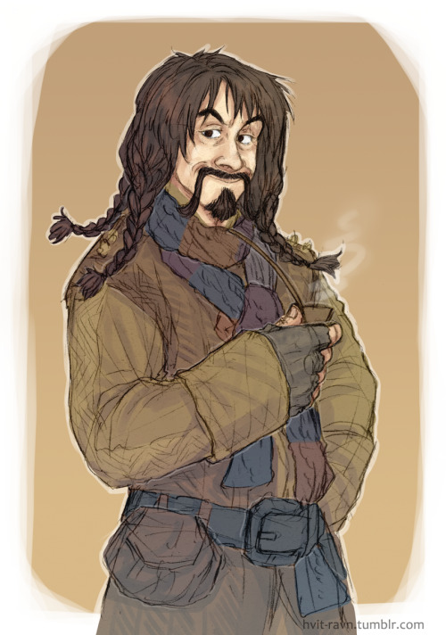 hvit-ravn:   just-mitchell asked: could i request maybe some cute kili/bofur? that would make me happy.  i chose bofur as you see. because i think that he looks cute without his hat.