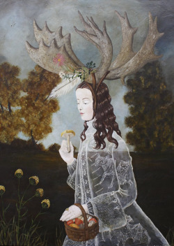 artisticmoods:  Shamans Apprentice, by Anne Siems.