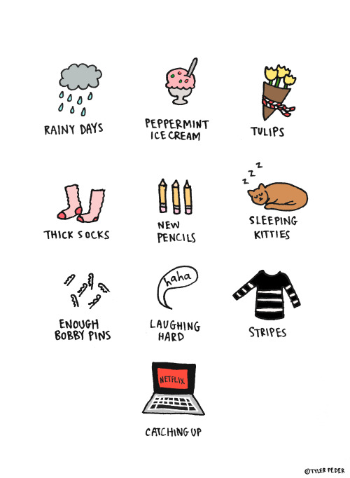 "Nice Things (by Tyler Feder) * Hey tumblr pals!  I'm 1 sale away from February 2013 being my most successful month in my Etsy shop.  Wanna help a girl out?  If you mention the secret password ""toothpaste"" in the Notes to Seller section, I'll throw in a free surprise 5x7 print with your order!"