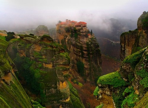 Mountain Mist, Meteora, Greece photo via stunning