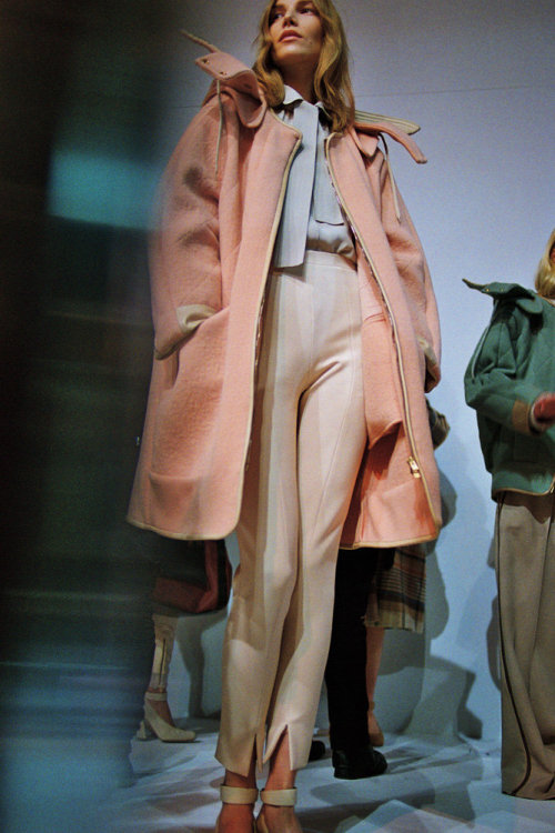 tmagazine:  Pink frosting + creme brûlée. More photos from Chloe's Fall 2012 fashion week collection, here. (Photo by Schohaja)  yeeeaaaahhhhhhhh