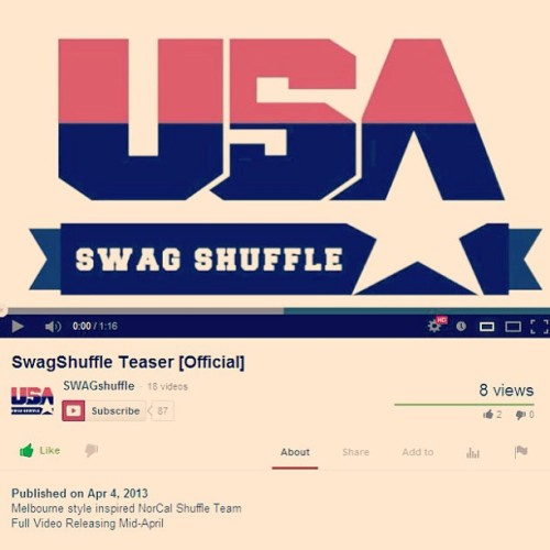 Awww daaym! Check out the lil Swag Shuffle teaser up on youtube! http://www.youtube.com/watch?v=XR8kRLLoGm0 🚶🏃🚶🏃👯🎥 #swagshuffle #pantieswet #edc #popthedream #telleveryoneandtheirmamas#norcal #oakland #sanjose #sanfrancisco #slumper