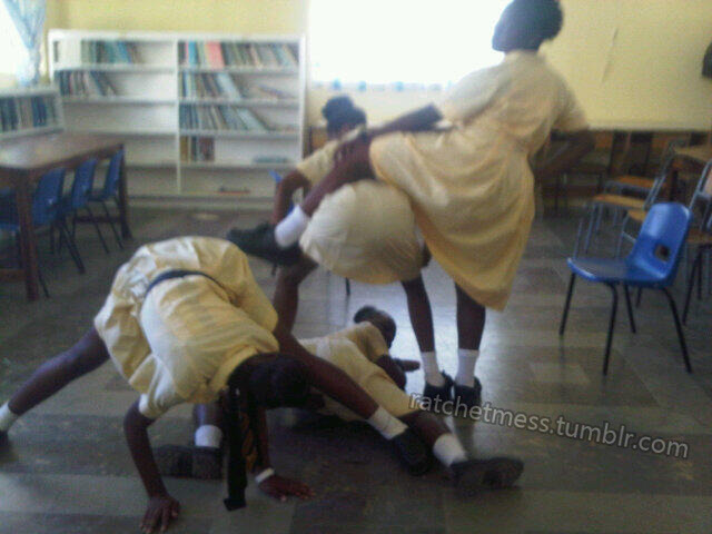 meanwhile in a jamaican classroom…. these girls need to simmer all the way down