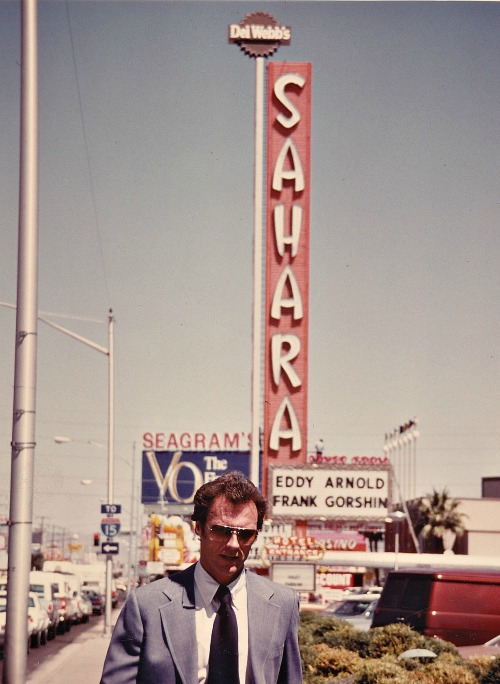 Clint Eastwood photographed in Las Vegas while filming The Gauntlet,1977.