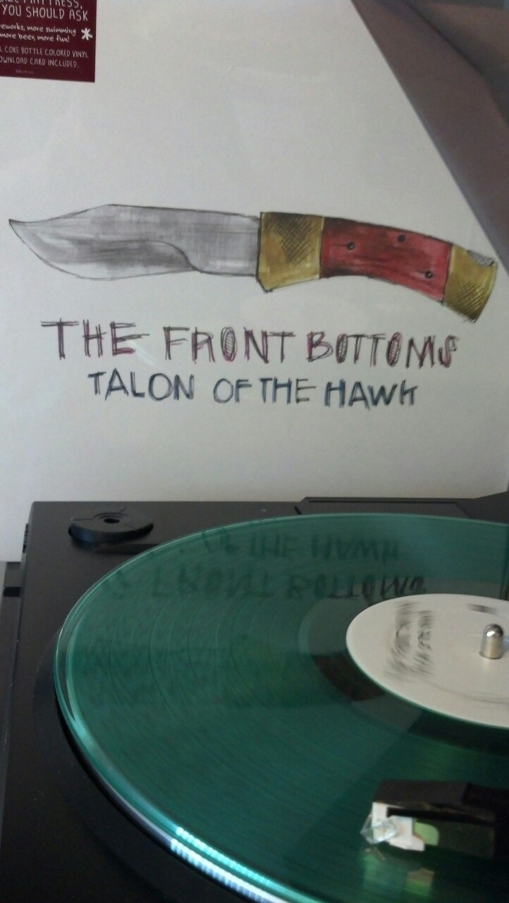 nickkaminski:  Currently spinning: The Front Bottoms - Talon of the Hawk